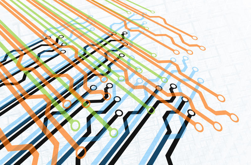 Het Diagram van de weg vector illustratie