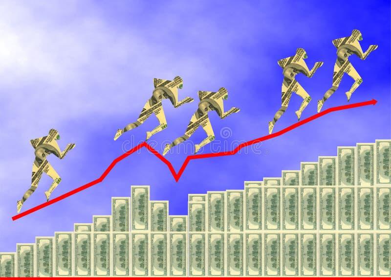 Het diagram van dollars royalty-vrije stock afbeeldingen
