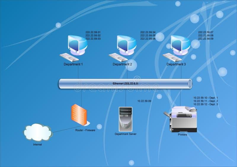 Het diagram van het netwerk stock illustratie