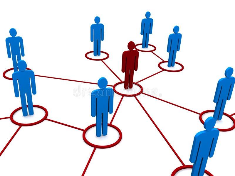 Het diagram van het netwerk of van het team royalty-vrije illustratie