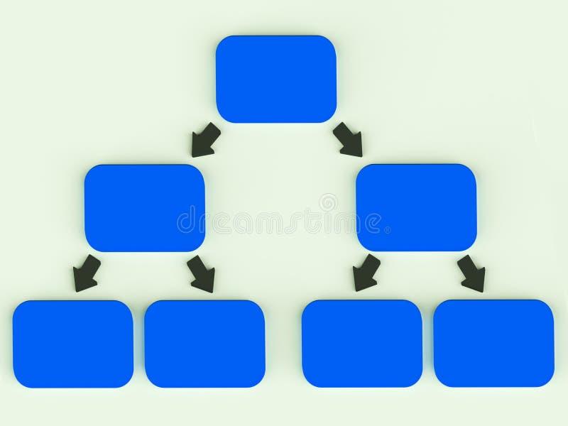 Het Diagram van Hierarchyl met Pijlen royalty-vrije illustratie