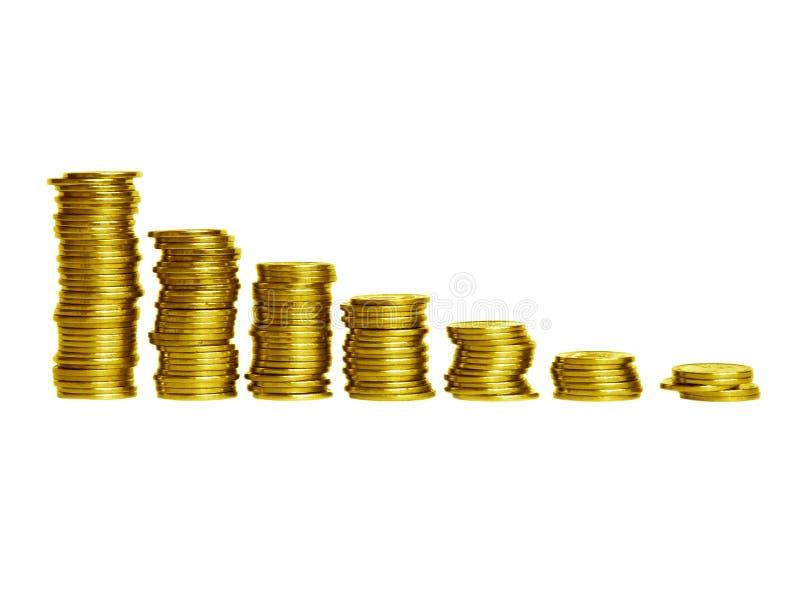 Het diagram van muntstukken stock fotografie