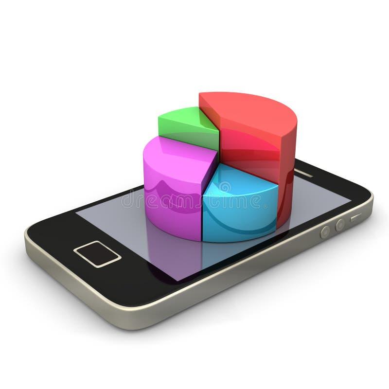 Download Het Diagram van Smartphone stock illustratie. Illustratie bestaande uit mobile - 29505238