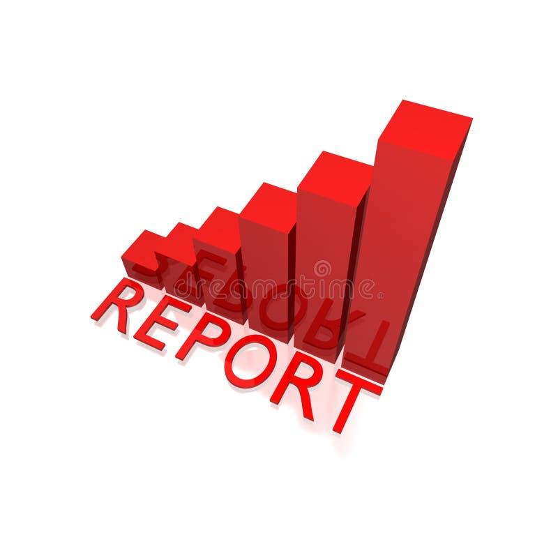 Het diagramgrafiek van het rapport vector illustratie