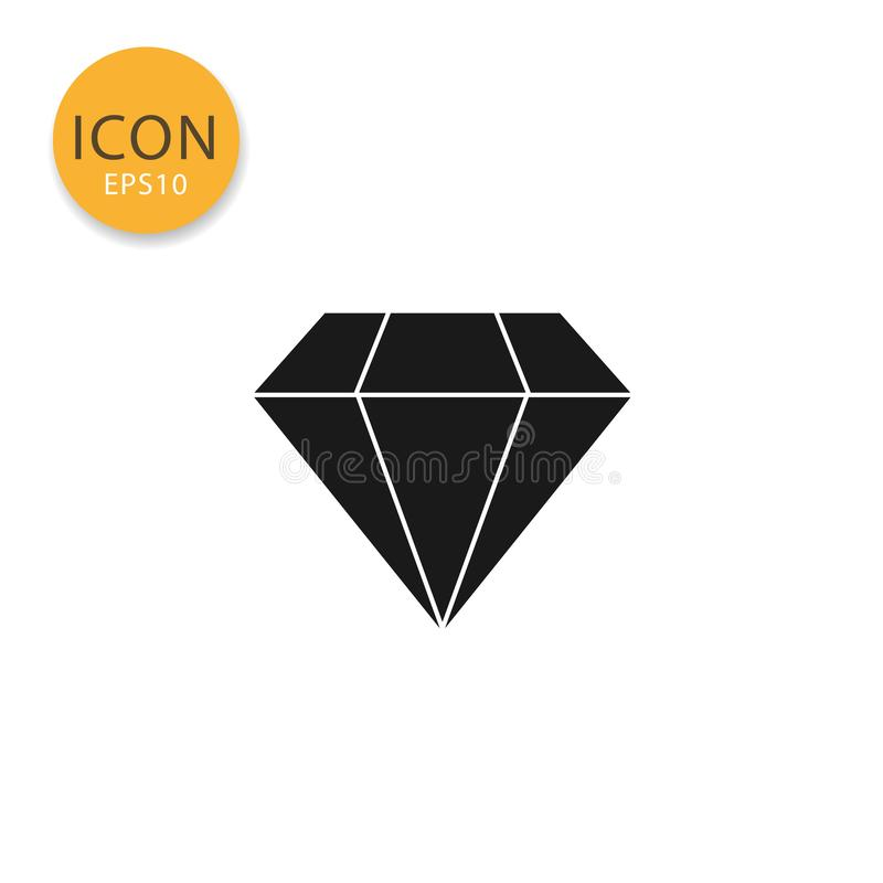 Het diamantpictogram isoleerde vlakke stijl royalty-vrije illustratie