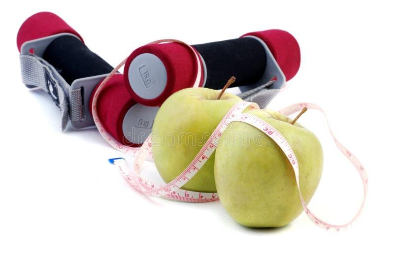 Het dieet van de appel stock afbeelding