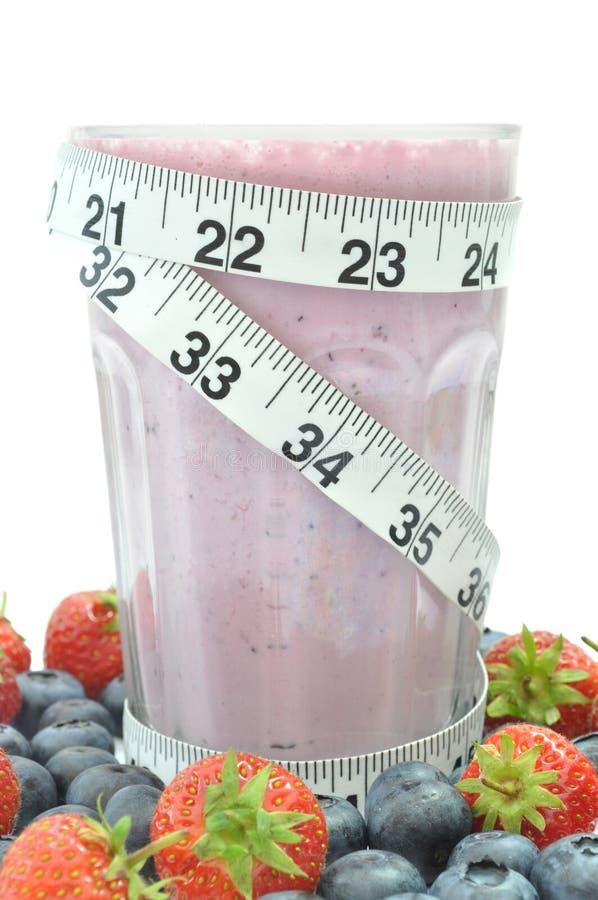 Het dieet van het fruit smoothie royalty-vrije stock afbeeldingen