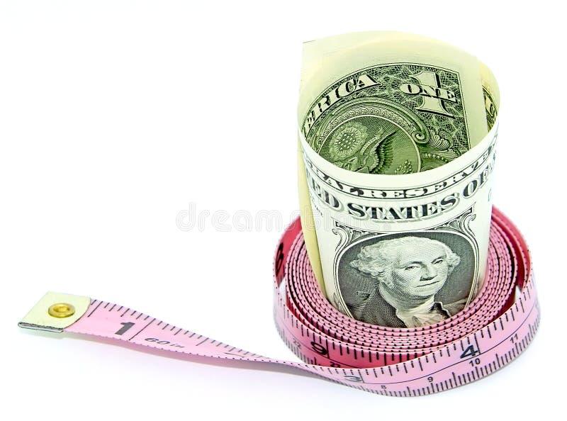 Het dieet van het geld stock afbeelding