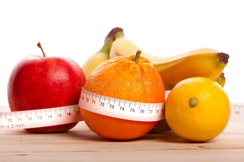 Het Dieet van vruchten royalty-vrije stock afbeelding