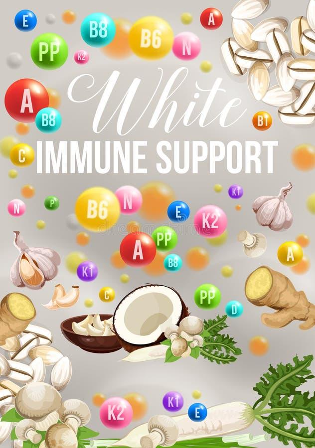 Het dieetaffiche van de Detoxkleur voor witte gezonde voedseldag stock illustratie