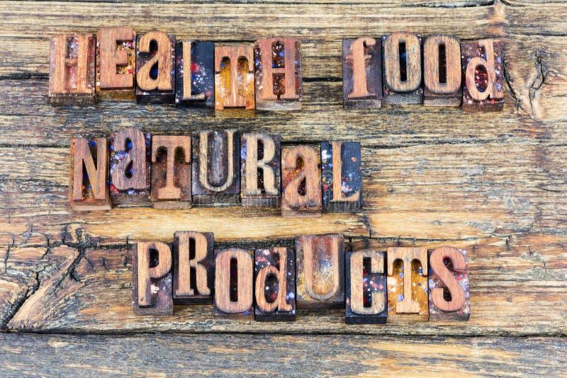 Het dieetbericht van natuurlijke voeding natuurlijke producten royalty-vrije stock foto's