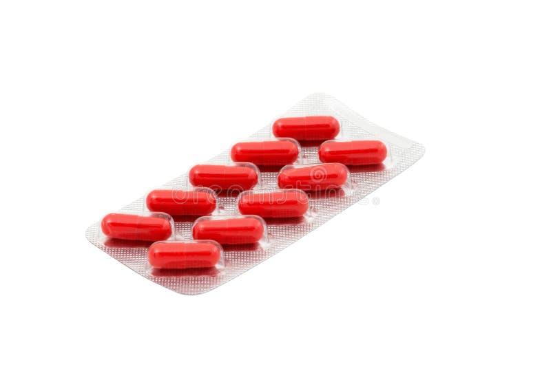 Het dieetsupplement van capsules in blaarpak royalty-vrije stock foto's
