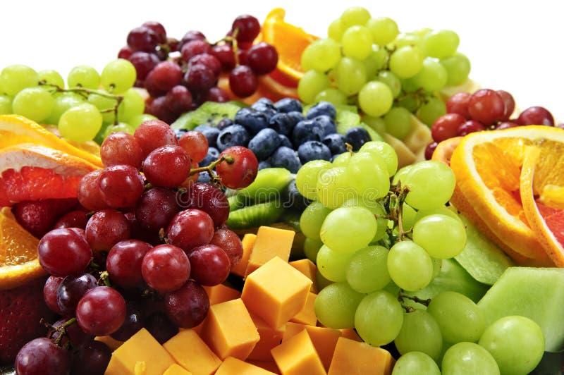 Het dienblad van het fruit stock foto