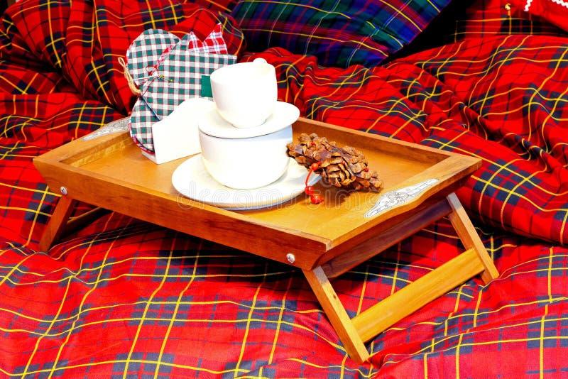 Het dienblad van het ontbijt royalty-vrije stock afbeelding