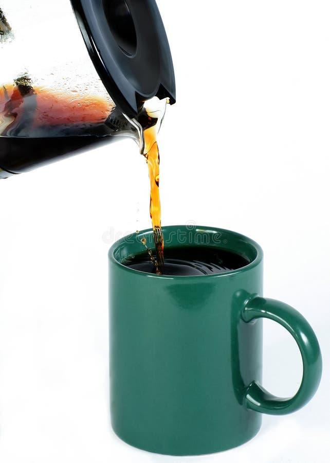 Het dienen coffe royalty-vrije stock foto