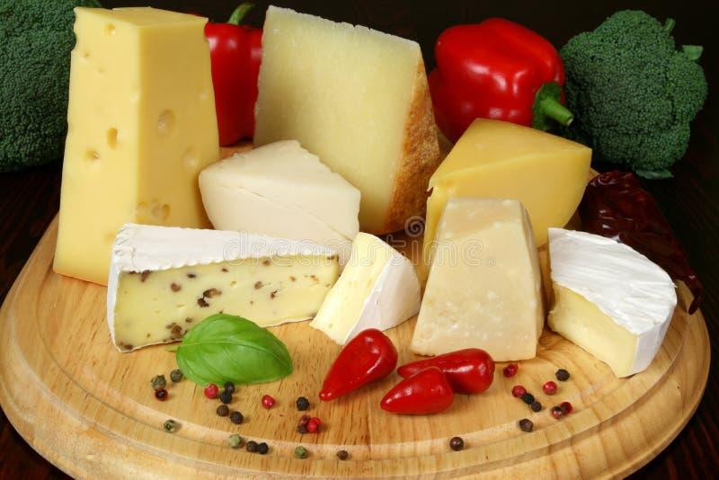 Het dienen van de kaas stock afbeeldingen