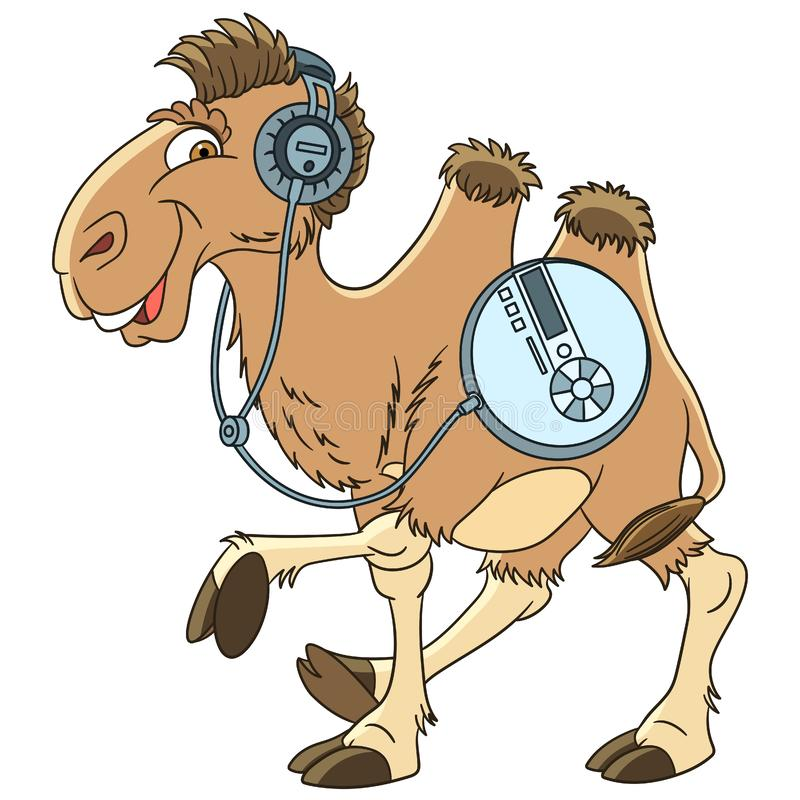 Het dier van de beeldverhaalkameel vector illustratie