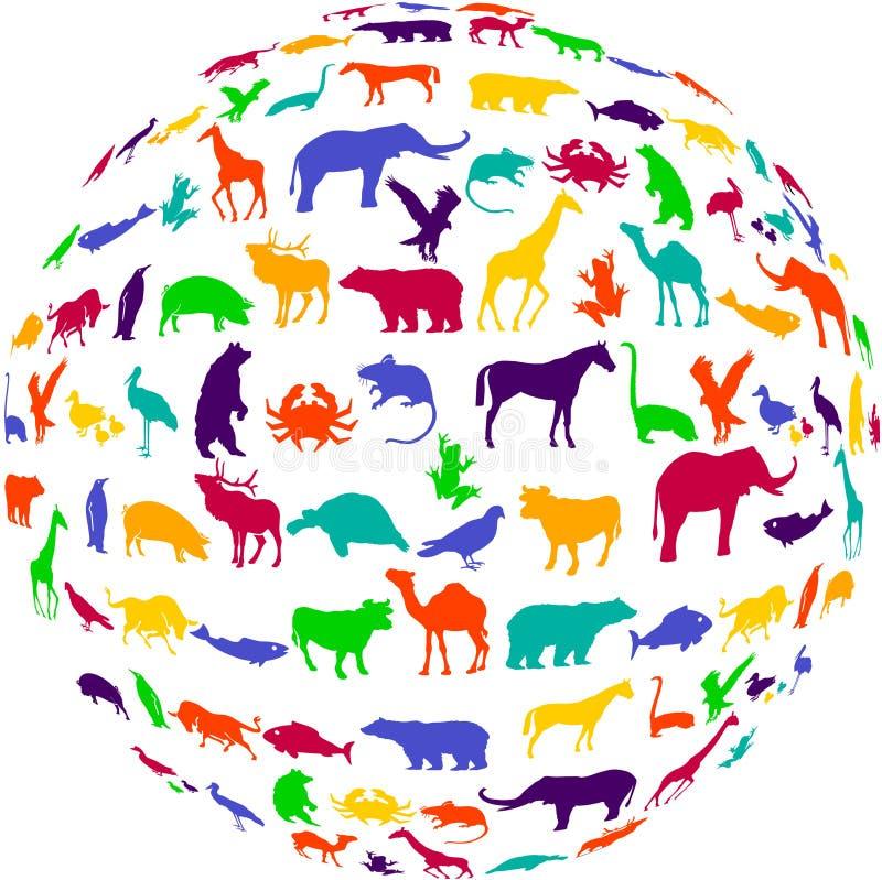 Het dierenrijk van het welriekend mengsel van gedroogde bloemen en kruiden vector illustratie