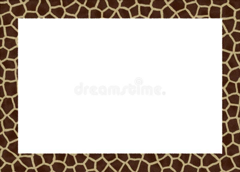 Het dierlijke frame van bont abstracte foto vector illustratie