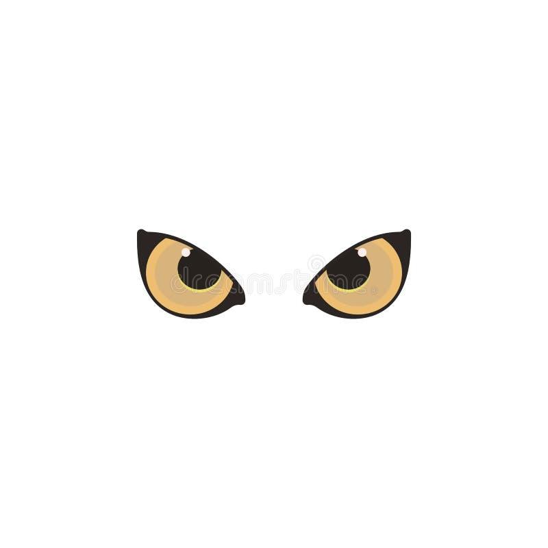 Het dierlijke pictogram van de ogen bruine kleur Elementen van ogen multi gekleurde pictogrammen Grafisch het ontwerppictogram va royalty-vrije illustratie