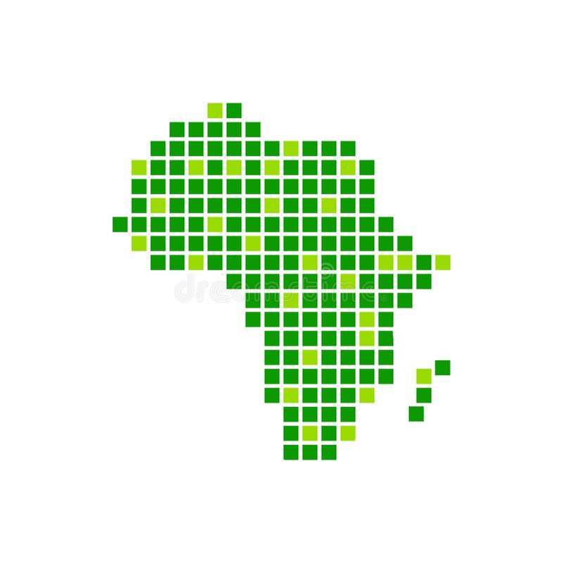 Het digitaal Groene Ontwerp van het de Pixelsymbool van Afrika stock illustratie