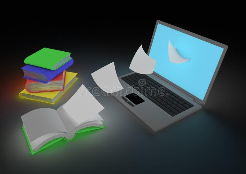 Het digitaal weergeven boekconcept vector illustratie