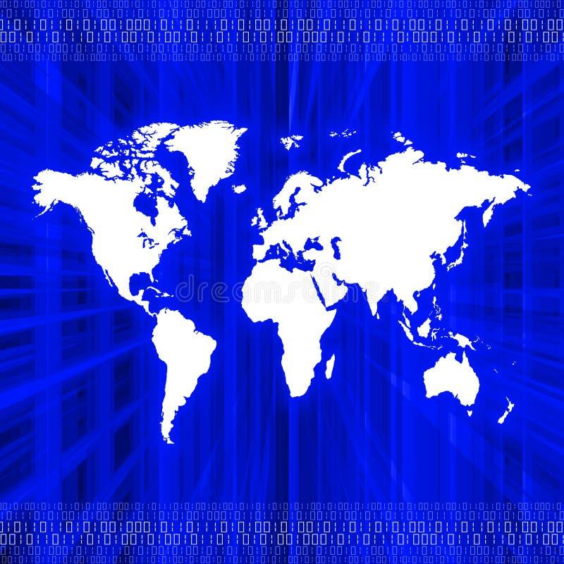 Het digitale blauw van de Aarde stock illustratie