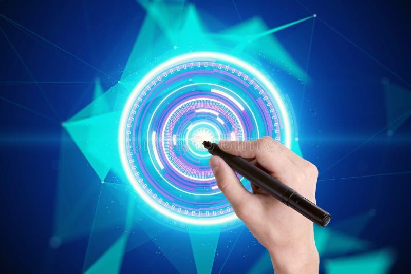 Het digitale concept van de technologieknoop royalty-vrije illustratie