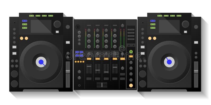 Het digitale dek van DJ, mixer Vector royalty-vrije stock foto's