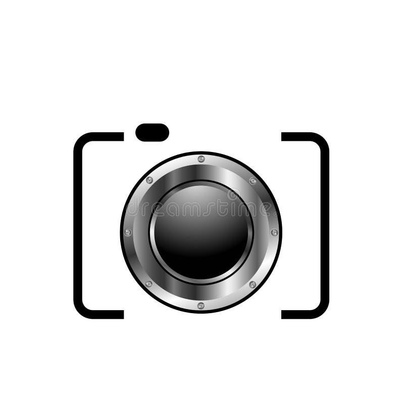 Het digitale embleem van de Camerafotografie vector illustratie