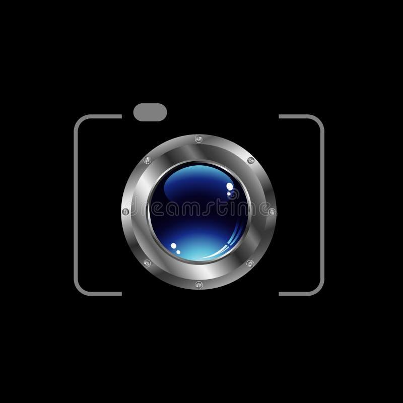 Het digitale embleem van de Camerafotografie royalty-vrije illustratie