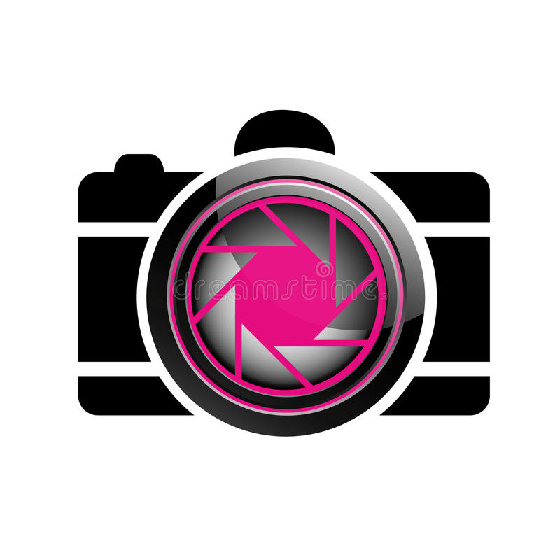 Het digitale embleem van de Camerafotografie stock illustratie