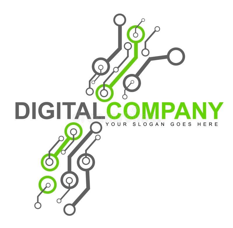 Het digitale Embleem van de Elektronika stock illustratie