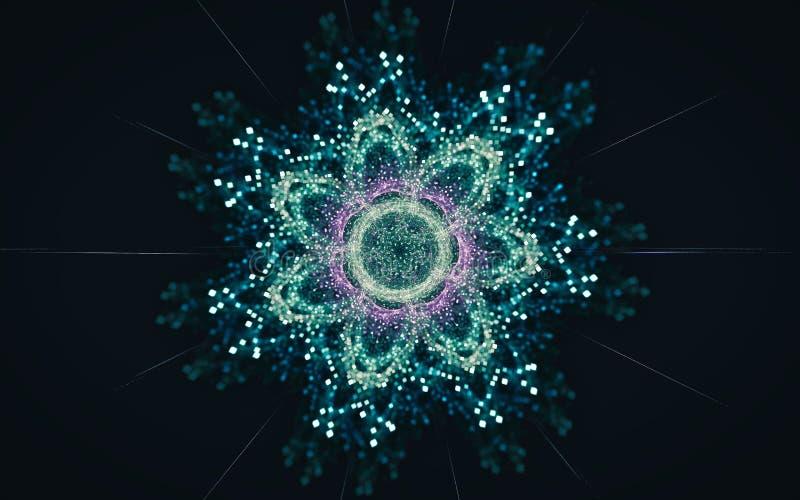 Het digitale geproduceerde beeld in de vorm van abstracte geometrische vormen van diverse schaduwen en de kleuren voor gebruik in vector illustratie