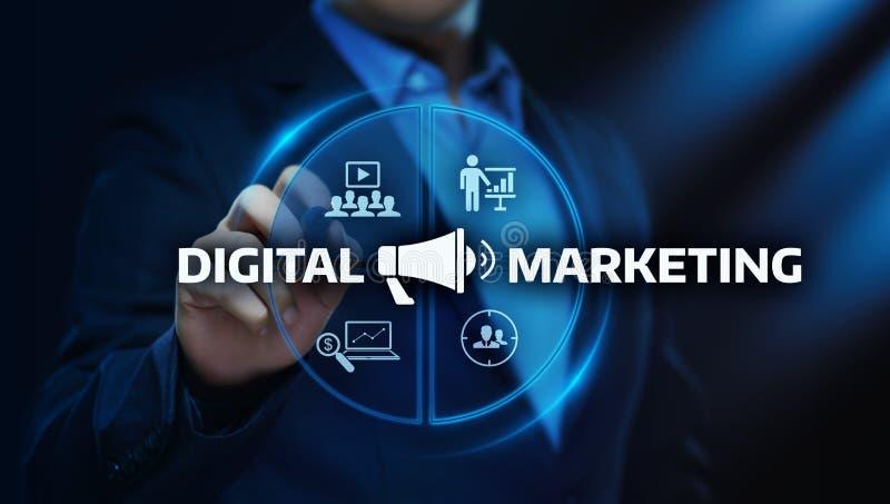 Het digitale Marketing Inhoud Planning concept van de Reclamestrategie stock fotografie