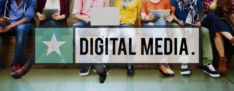 Het digitale Media Concept van Netwerk Online Internet stock afbeeldingen