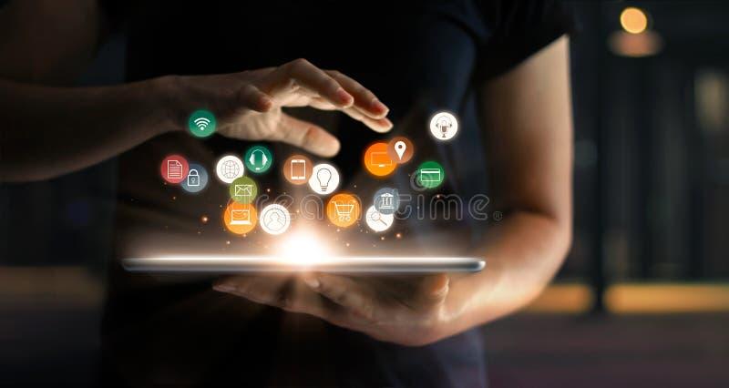 Het digitale Online Marketing Concept van de Handelsverkoop stock fotografie