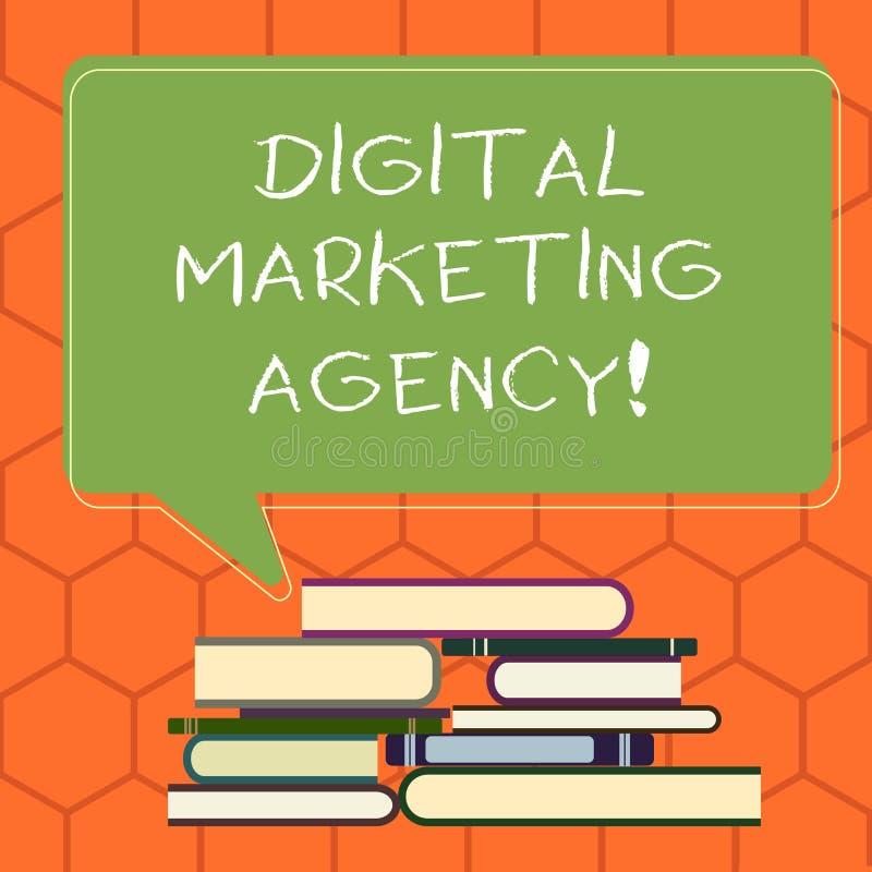 Het Digitale Op de markt brengende Agentschap van de handschrifttekst De conceptenbetekenis helpt zaken met nauwkeurig doelpublie vector illustratie