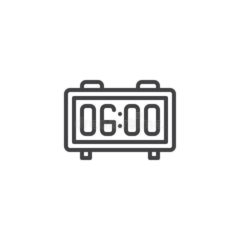 Het digitale pictogram van het wekkeroverzicht vector illustratie