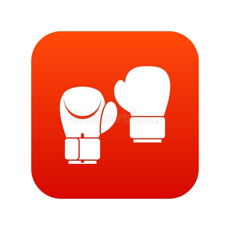 Download Het Digitale Rood Van Het Bokshandschoenenpictogram Vector Illustratie - Illustratie bestaande uit strijd, pictogram: 107708006