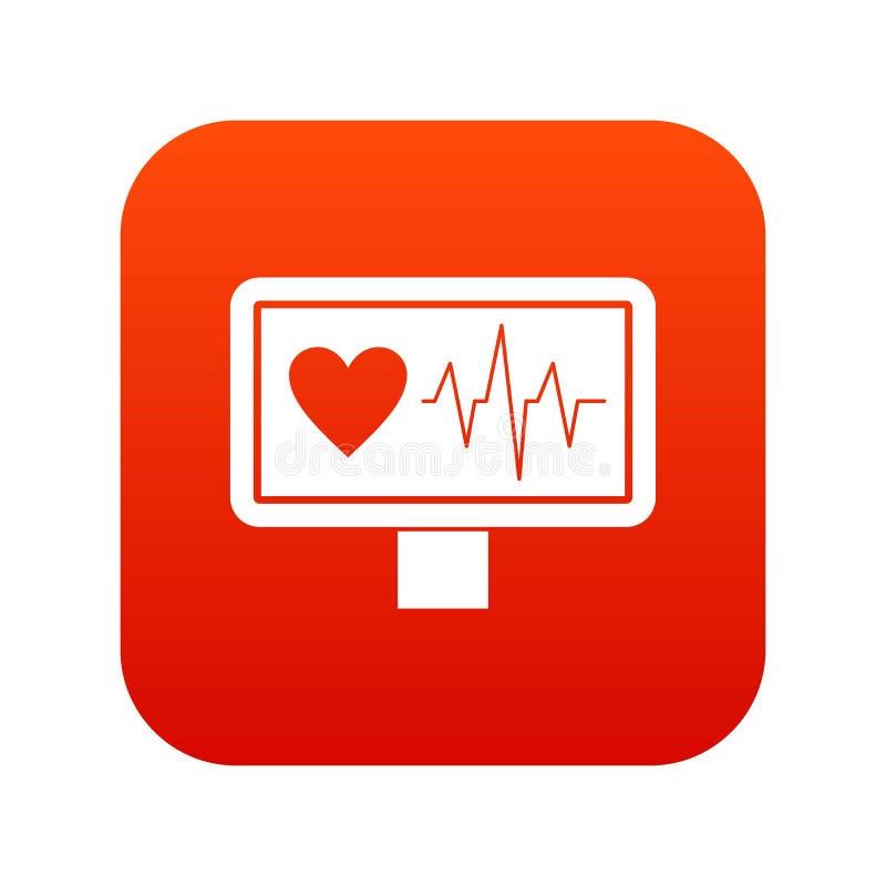 Download Het Digitale Rood Van Het Hartslagpictogram Vector Illustratie - Illustratie bestaande uit cardiograaf, hospital: 107708183