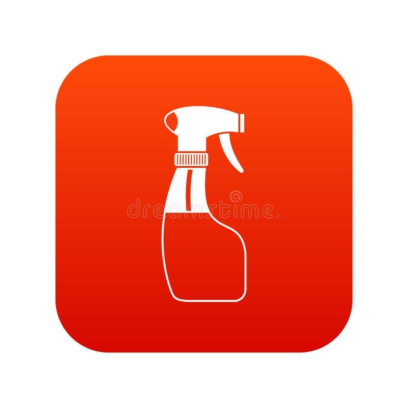 Download Het Digitale Rood Van Het Nevelpictogram Vector Illustratie - Illustratie bestaande uit voorwerp, rood: 107708797