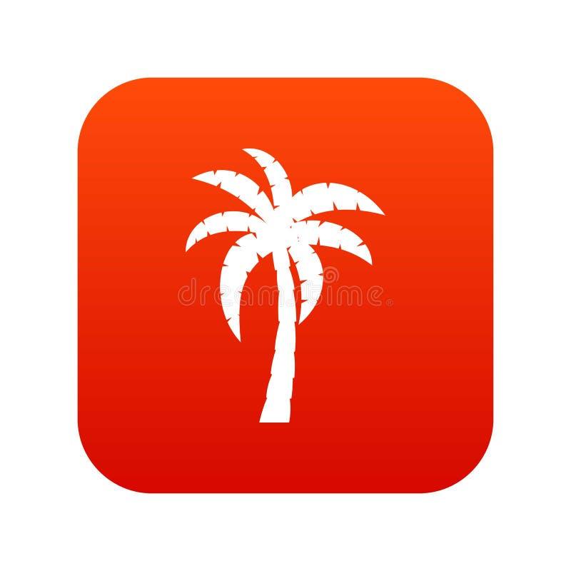 Het digitale rood van het palmpictogram vector illustratie