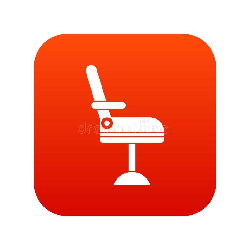 Download Het Digitale Rood Van Het Stoelpictogram Vector Illustratie - Illustratie bestaande uit stoel, tekening: 107708711