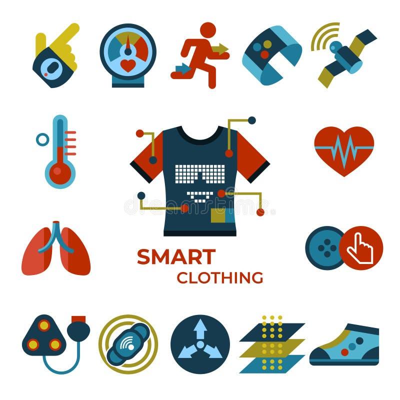 Het digitale vector slimme gadget van de klerenmanier vector illustratie