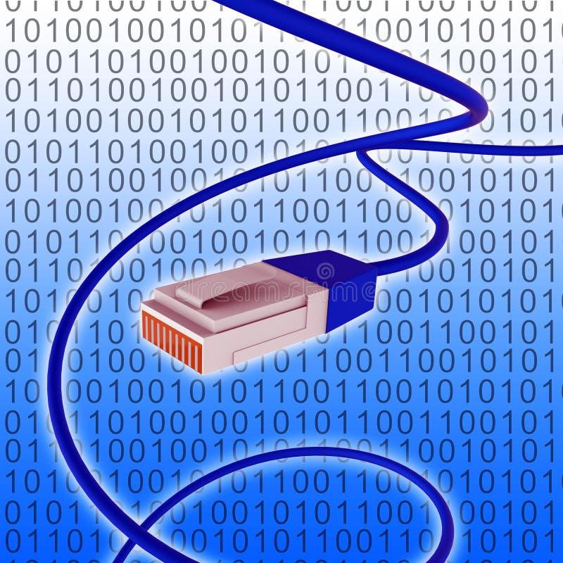 Het digitale vertegenwoordigt World Wide Web en Verbonden Netwerk stock illustratie