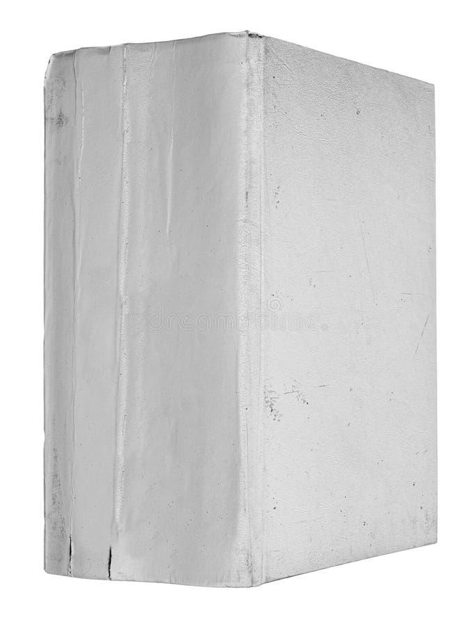 Het dikke oude gescheurde grijze boek royalty-vrije stock afbeeldingen