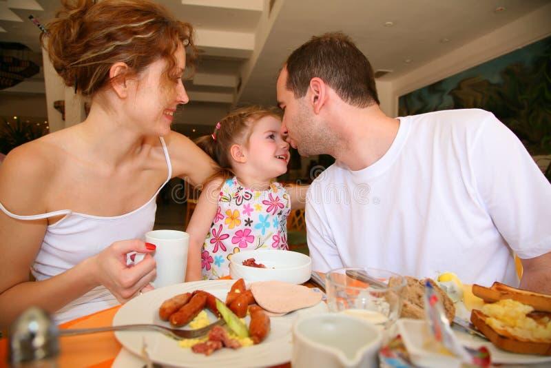 Het diner van de familie stock foto's