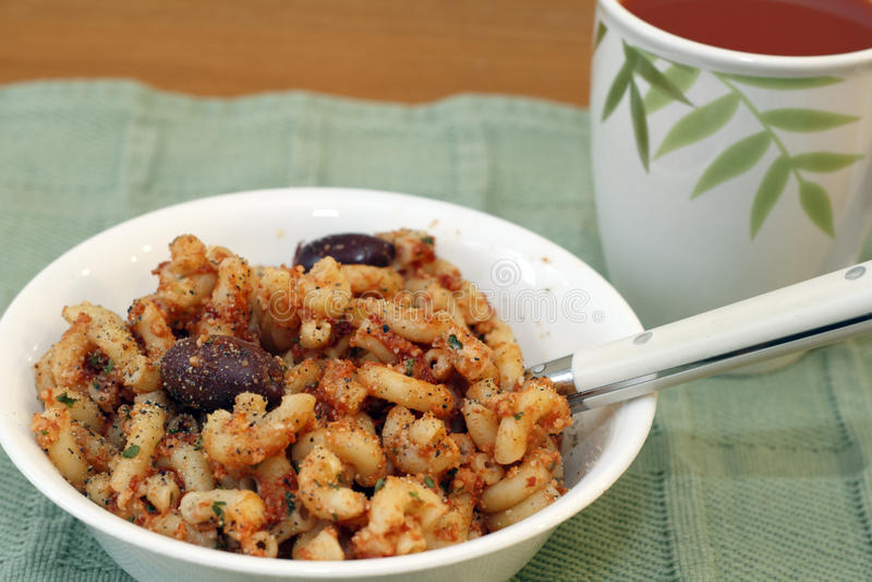 Het Diner van de macaroni stock afbeeldingen