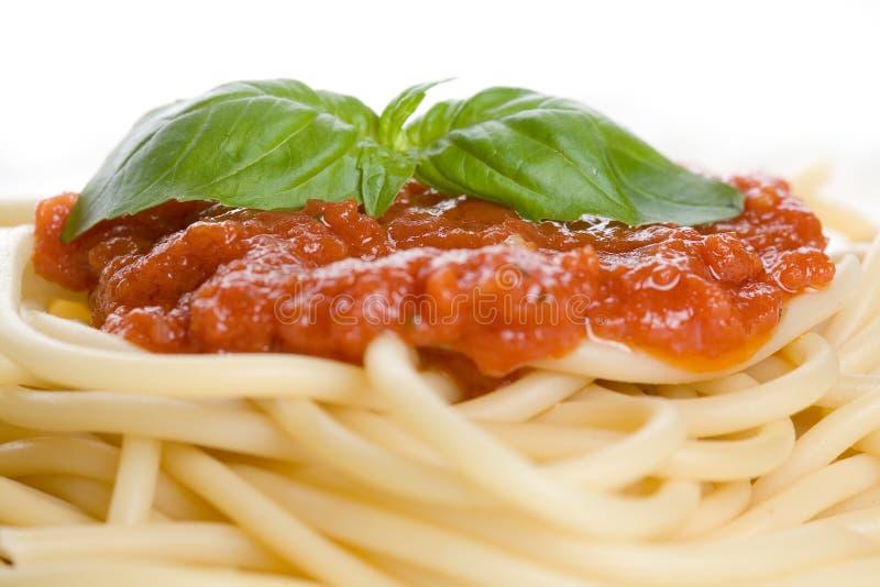 Het diner van de spaghetti stock afbeeldingen
